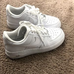 Nike white Air Force ones